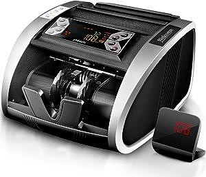 Aneken Money Counter UV/MG/IR Counterfeit Detection Bill Counter Machine - US Dollar Cash Counter with LED Display, ADD/BAT Modes, 1,000 Bills/Min - 2 Years Warranty