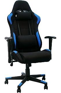 La Silla Española Silla gaming, racing para gamers, silla de Oficina Reclinable, Poliéster