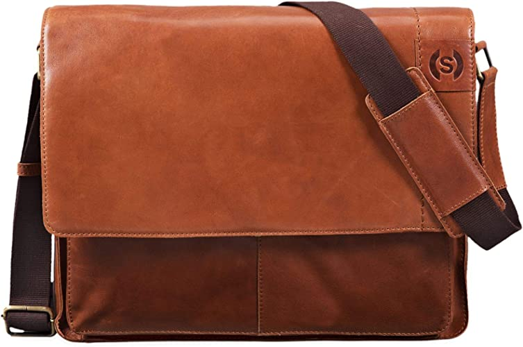 Stilord Athos Businesstasche Leder Herren Damen 15 6 Zoll Laptoptasche Messenger Bag Vintage Umhängetasche Viele Fächer Groß Elegante Aktentasche Aus Echtem Leder Farbe Ocker Braun Schuhe Handtaschen