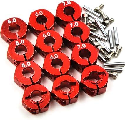 20pcs RC 6mm Aluminum Wheel Hub Clamp Type Fit 1//10 RC Car Hex 12mm Wheels Rims