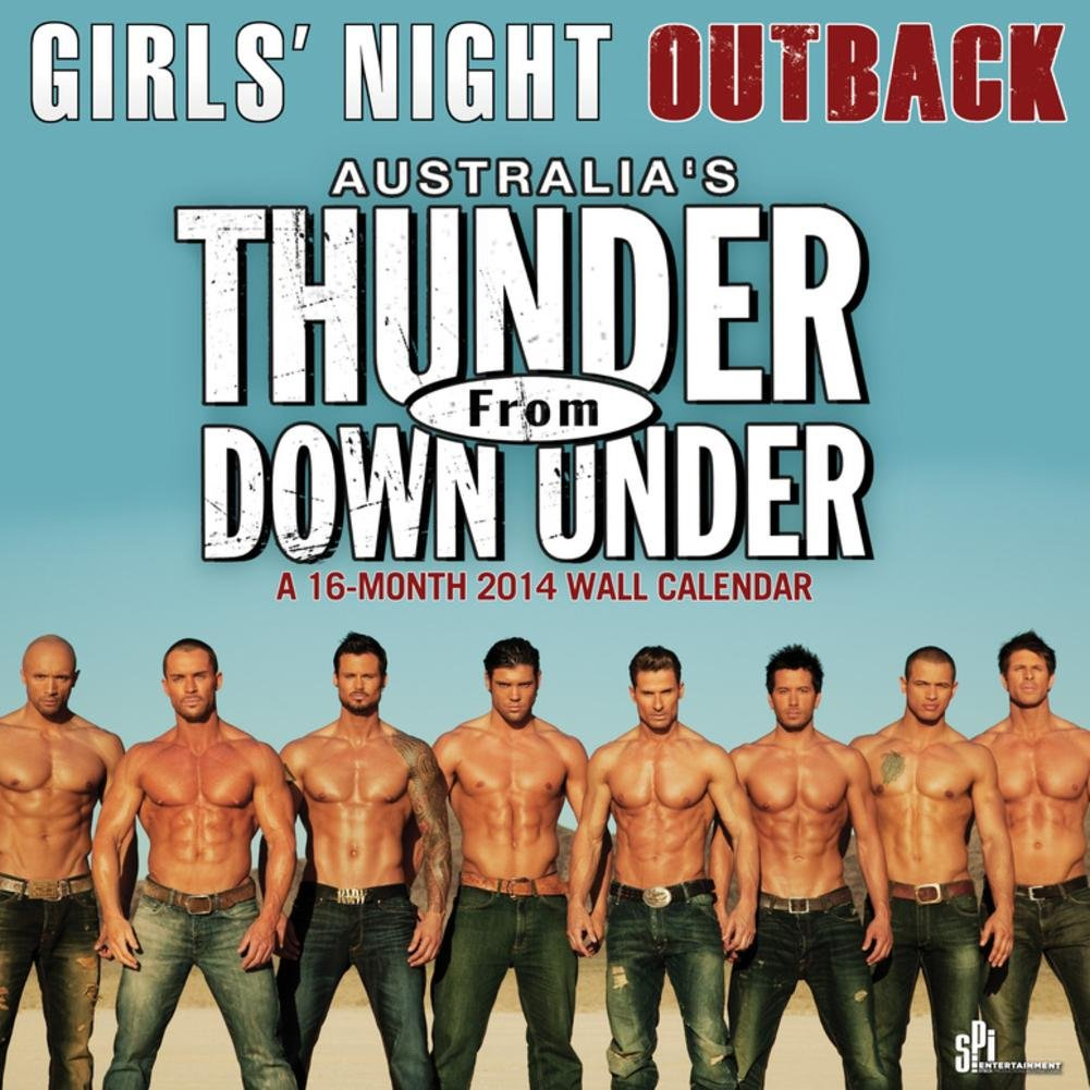 Amazoncom Thunder From Down Under 2014 Calendar 12 X 12in Home