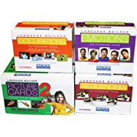 Language Builder 4-Box Follow Up Kit (Nouns 2, Sequencing, Emotions, and Occupations flash card sets)