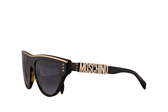 46fceb89545 Amazon.com: Moschino MOS002/S Sunglasses Dark Havana w/Dark Grey ...