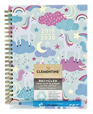 Amazon.com: Julio 2019 - Junio 2020 Clementine planificador ...