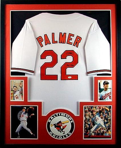 9f9f43d40 Jim Palmer Baltimore Orioles Autograph Signed Custom Framed Jersey HOF  Inscribed JSA Certified