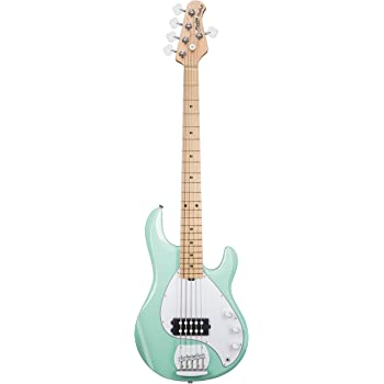 sterling by music man s u b series ray5 stingray bass 5 string mint green. Black Bedroom Furniture Sets. Home Design Ideas