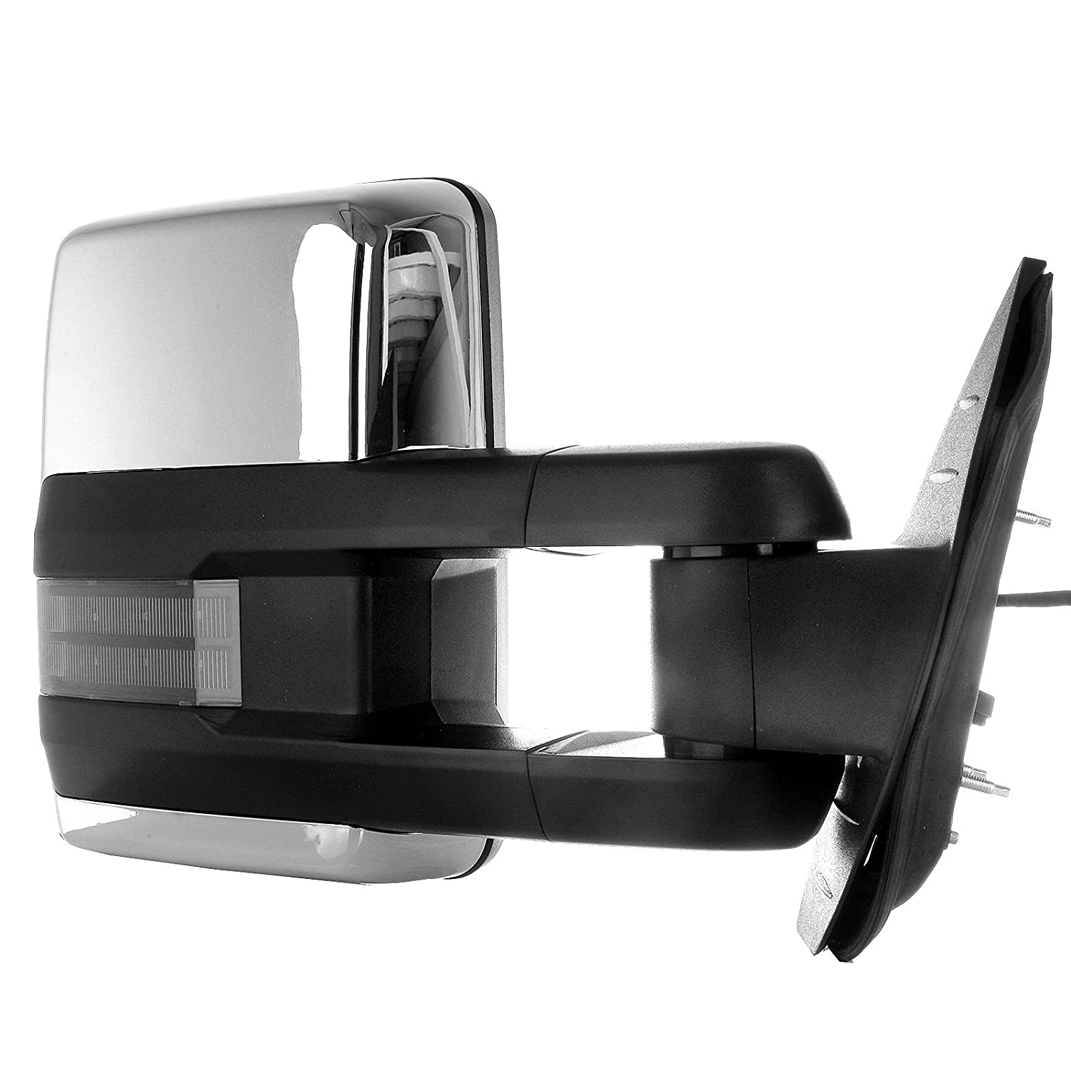 SCITOO Towing Mirrors fit Chevy Silverado GMC Sierra 1500 2500 3500 Sierra 2007-2013 Chevy Avalanche 1500 Suburban 1500 2500 Chrome Cover Power Heated Signal Light Pair Mirrors