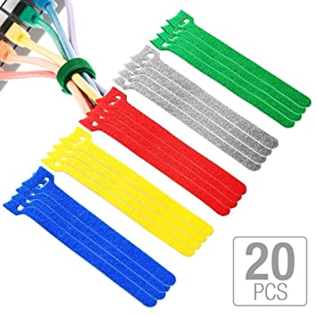 20pcs Straps Marker Organiser Power Wire Management Cable Ties Nylon Strap