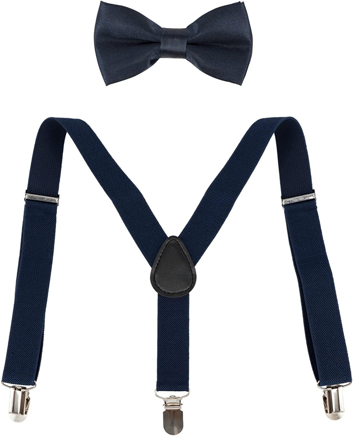 Ateid Kids Braces Bow Tie Clip-on Suspenders Set Y-shape