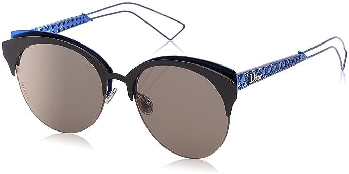 Christian Dior Damen Sonnenbrille Dioramaclub AP Eym, Schwarz (Mtblck Coral/Grymlt Rsgd Ar), 55