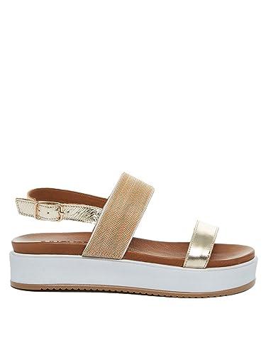 Inuovo 7459 - Damen Sandalette Pantolette - Gold