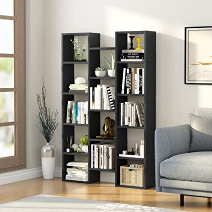 Amazon.com: LITTLE TREE 5-Shelf Modern Bookcase, Organizer ...