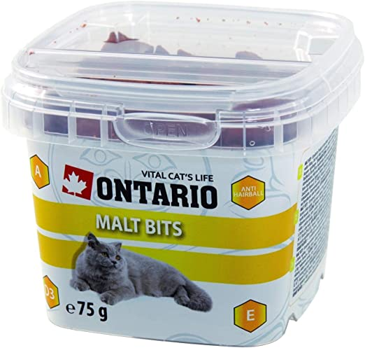 Snacks Gatos Anti Bolas de Pelo Anti-Hairball bits - 75g: Amazon.es: Productos para mascotas