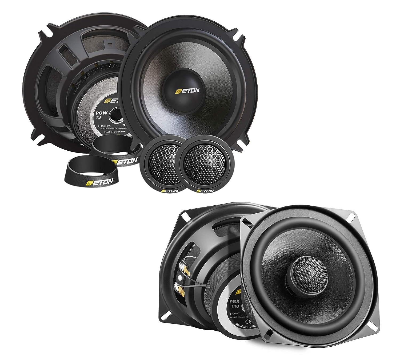 Eton Set Complet de Haut-parleurs Avant et arri/ère pour BMW 13 cm//130 mm