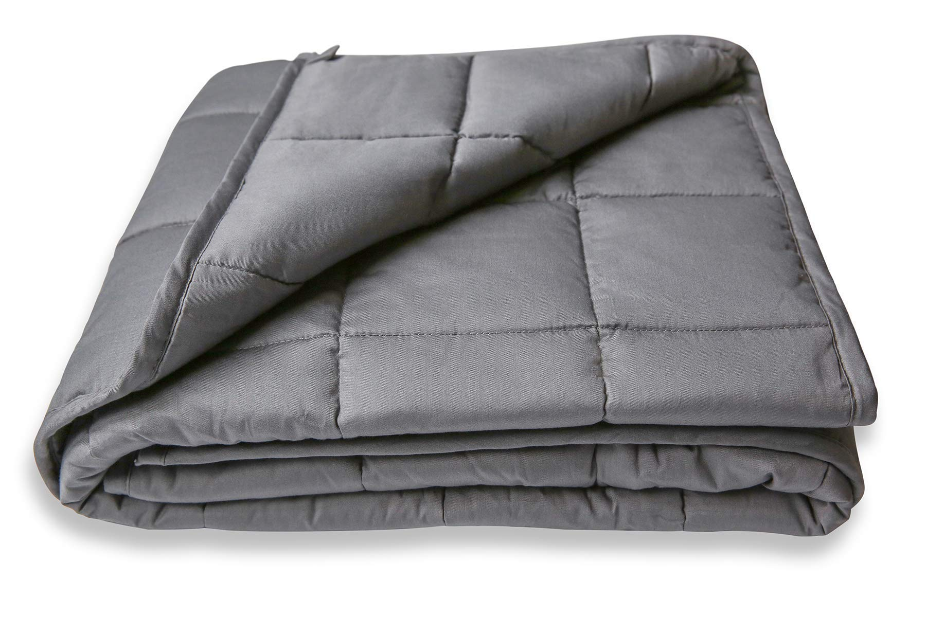 Legendary Comfort Kids Weighted Blanket 5 Lbs - Breathable Cotton with Premium Glass Beads - Heavy Weighted Blanket for Kids 40-70 lbs | Anxiety | Stress | Designed in USA. (Dark Grey, 5 Lbs 36''x48'')
