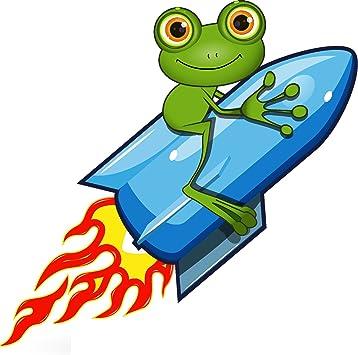 Michael Rene Pflüger Barmstedt Premium Aufkleber 8x8 5 Cm Lustiger Frosch Auf Rakete Frog Kröte Funny Cool Sticker Auto Motorrad Bike Autoaufkleber Auto