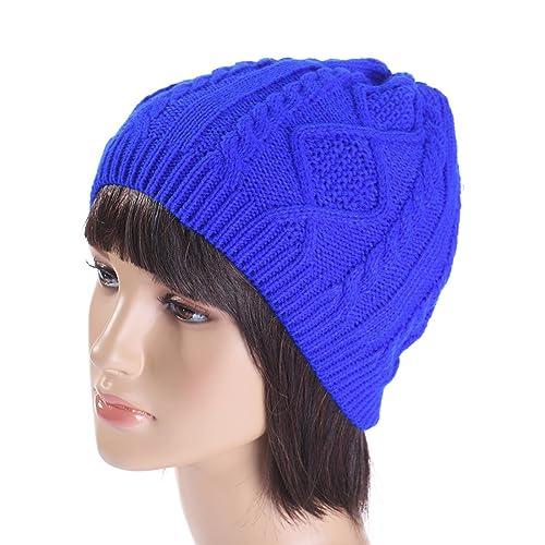 MTTROLI - Gorro de punto - para mujer Azul azul Talla única