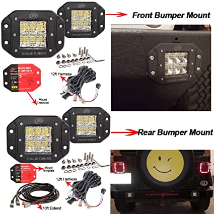 How To Wire 12v Led Lights In House: Amazon.com: House Tuning 12V Flush Mount LED Lights Front Bumper rh:amazon.com,Design