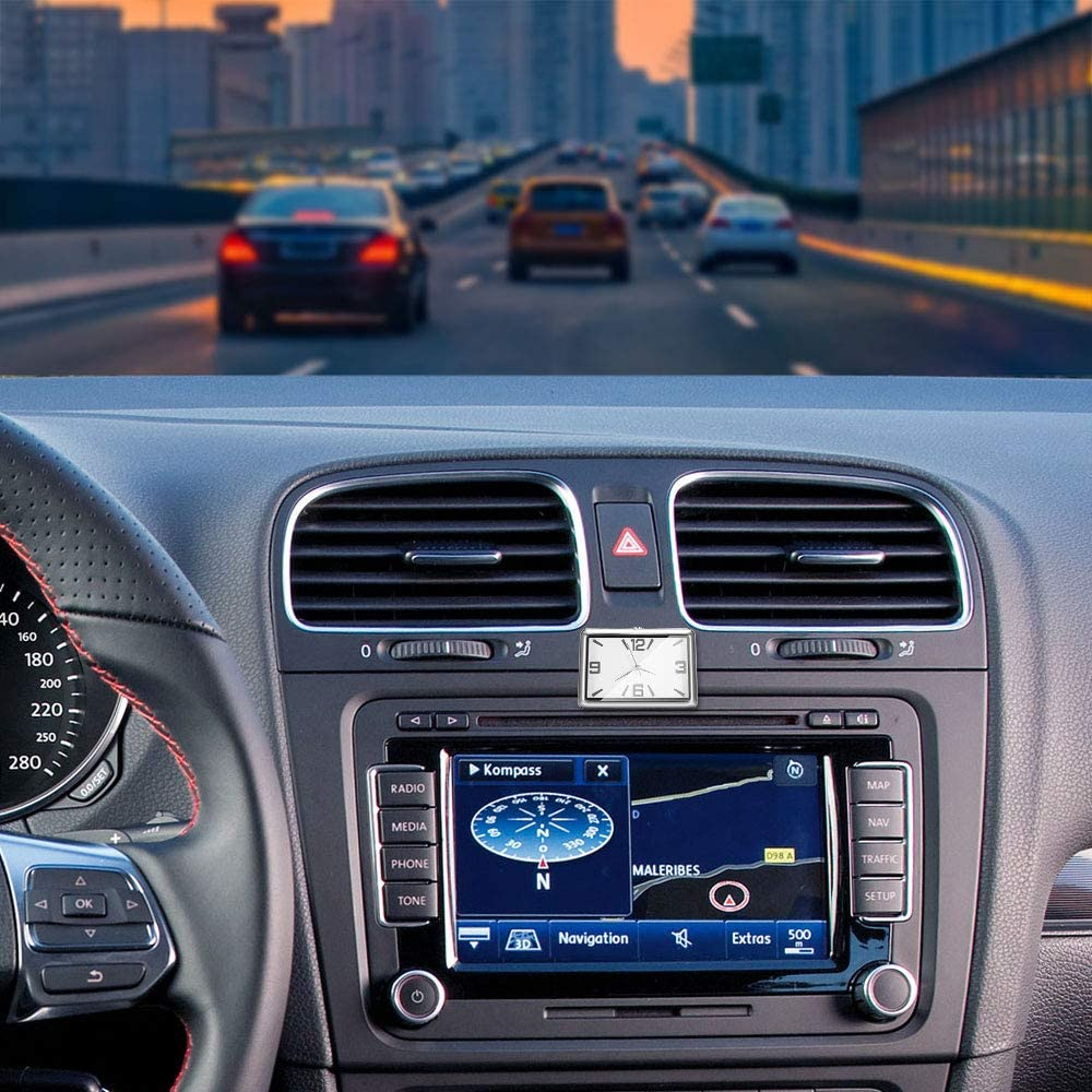 SOOTOP Tableau De Bord Horloge De Voiture Automobile Horloge /À Quartz Voiture D/écoration Montre D/écorations Int/érieur V/éhicule Auto Montre