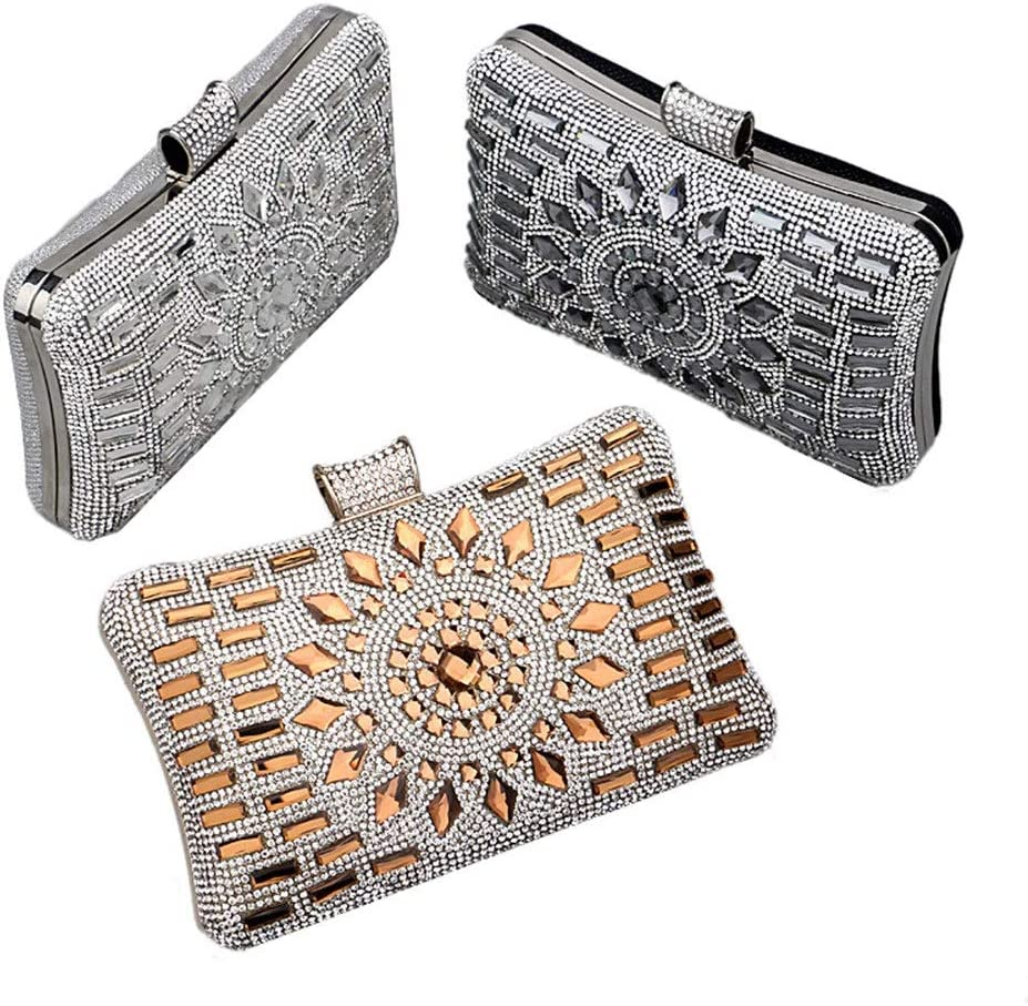 Color : Black Sviper Exquisite Clutch Female Dinner Party Rhinestone Encrusted Evening Bag Party Womens Cocktail Party Banquet Dress Bag Evening Package