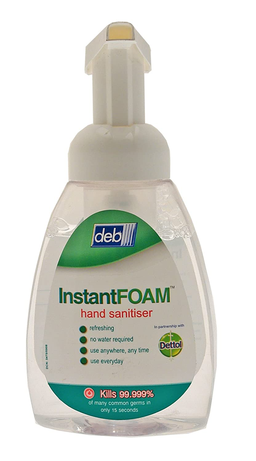 DEB InstantFOAM hand sanitiser, 250 pump action bottle Deb Group Ltd. DIS250ML