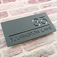 Contemporary Acrylic Floating Rectangular House Sign - Modern Door Number Plaque