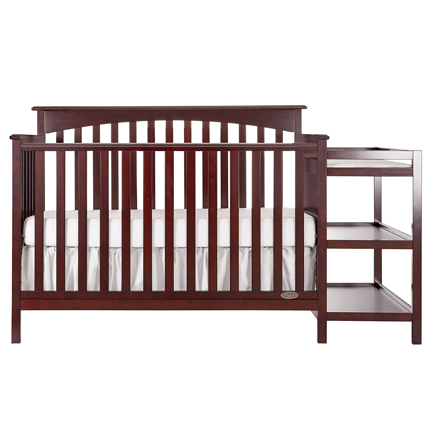 Amazon com dream on me chloe 5 in 1 convertible crib with changer cherry baby