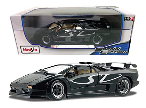Amazon Com New 1 18 W B Special Edition Black Lamborghini Diablo