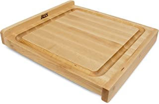 product image for John Boos Block KNEB17 Maple Wood Countertop Reversible Edge Grain Cutting Board with Gravy Groove, 17.75 Inches x 17.25 Inches x 1.25 Inches