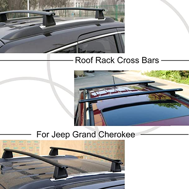 Amazon.com: ALAVENTE Roof Rack Cross Bars For Jeep Grand Cherokee 2017 2016  2015 2014 2013 2012 2011 (fits LIMITED / OVERLAND Only): Automotive