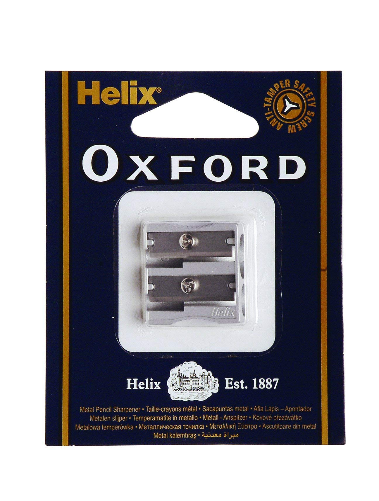 Helix Oxford Double Hole Metal Pencil Sharpener