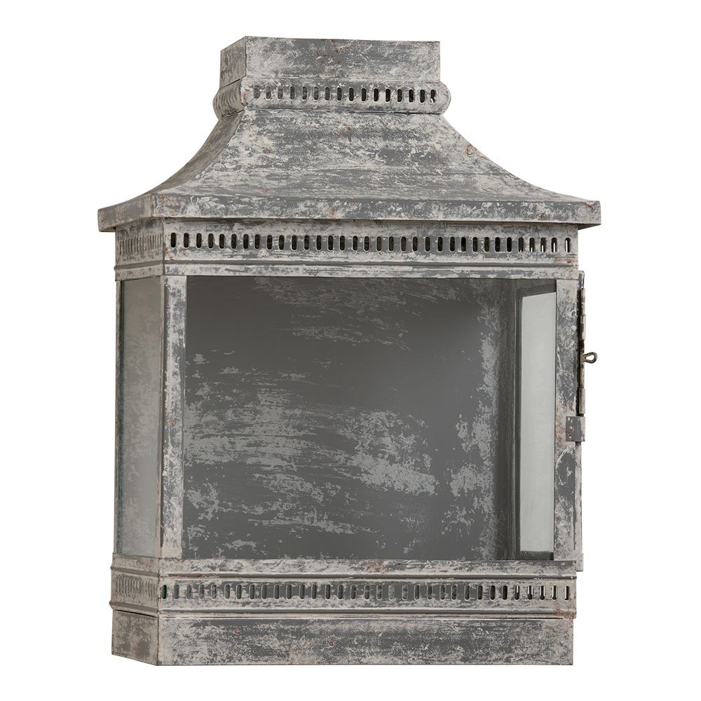 Ethan Allen washed galvanized wall lantern.