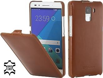 StilGut UltraSlim Case, Custodia in Pelle per Huawei Honor 7, Cognac