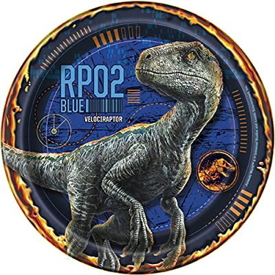 Jurassic World Fallen Kingdom Birthday Party Supplies 8 Pack Dessert Plates: Toys & Games