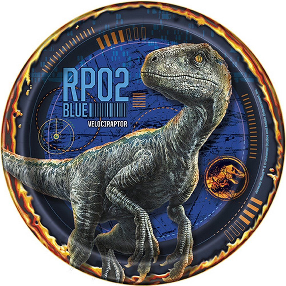 Jurassic World Fallen Kingdom birthday party supplies 32 pack dessert plates by BirthdayExpress