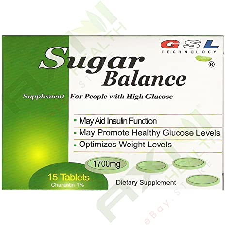 Amazon.com: GSL Sugar Balance Bitter Melon Extract containing 1000 mg Charantin 1% + 50 mg American Ginseng Extract 15 Tablets (Pack of 5) 75 TOTAL TABLETS: ...