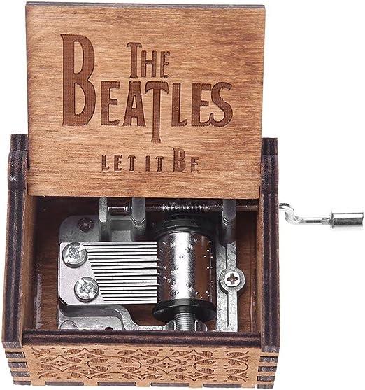 HOSPORT Caja de música de madera grabada con diseño de Hedwig ...