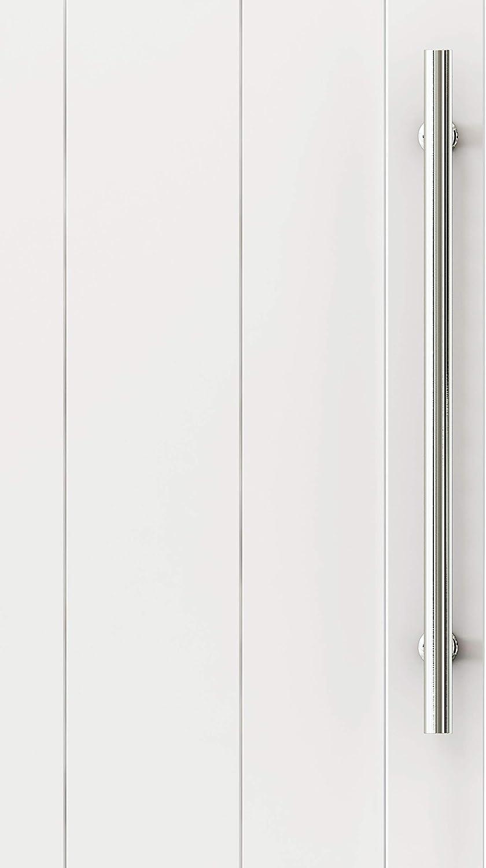 DIYHD 14 Brushed Stainless Steel Barn Door Handle Pull Wood Door Two-Side Flat Bar-to-Bar Handle
