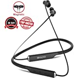 Magnetic Earphones Bluetooth Wireless V4.2 Comfy and Sweatproof ONKEE Earbuds I HiFi Stereo 15 Hrs Playback Headset I Cell & Tablets, Sports, Travel & TV Headphones with Noise Cancelling Mic (Black)