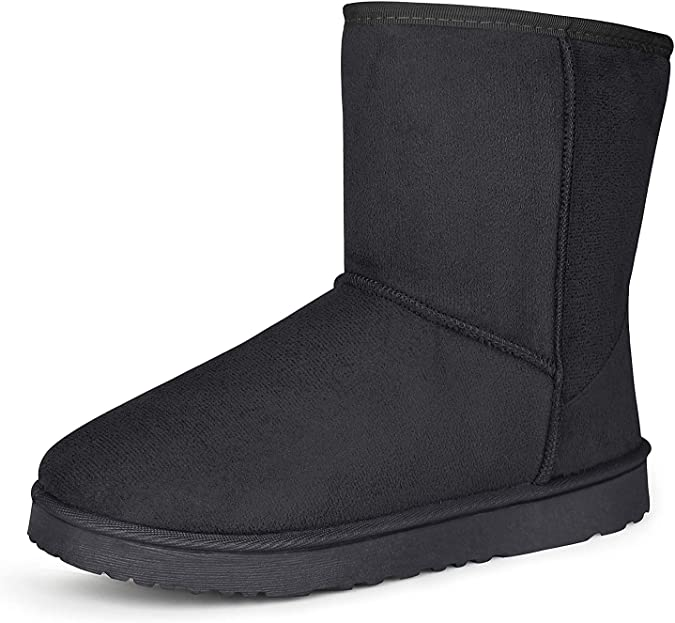Super color Mens Fashion Comfort Chelsea Boots Slip-on Work Ankle Boots Plus Velvet Keep Warm
