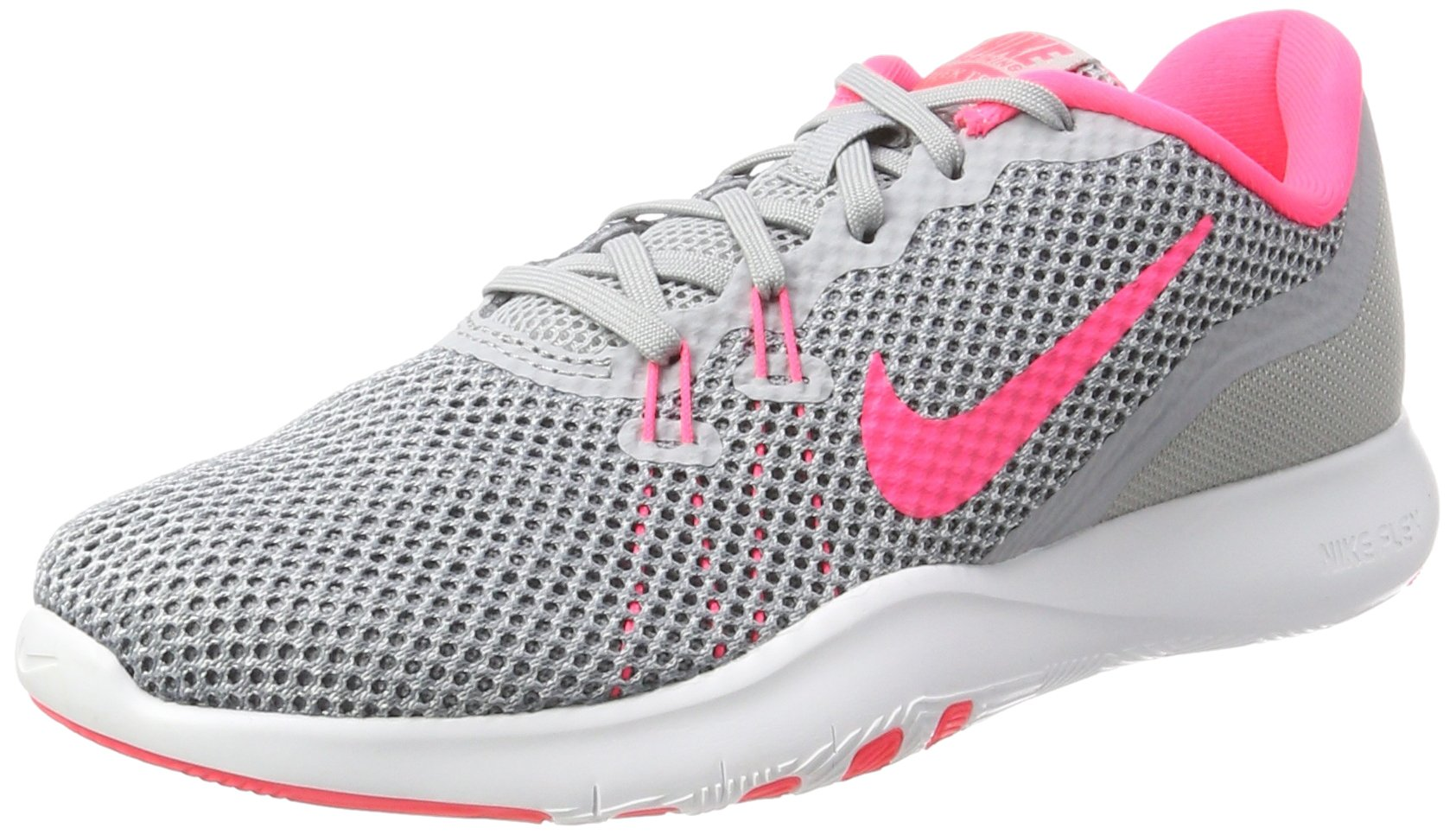 Galleon - Nike Women s Flex Trainer 7 Wolf Grey Racer Pink - Stealth  Ankle-High Fabric Running Shoe 7.5M 5cba2bea7e943