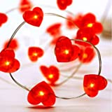 Valentine's Day String Light Party Decorations,Valentines Decorations Lights Operated for Holidays and Valentines Day Party F