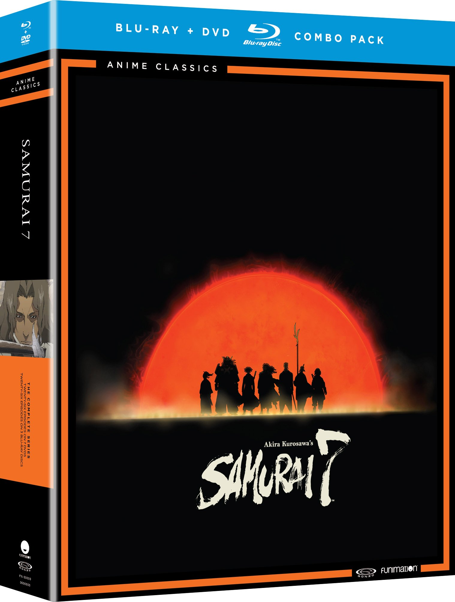 Blu-ray : Samurai 7: The Complete Series - Anime Classics (With DVD, Boxed Set, 10 Disc)