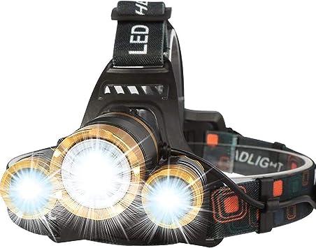 Bright 300 Lumen LED 4-Mode Zoomable Headlight Headlamp Head Torch Lamp Light