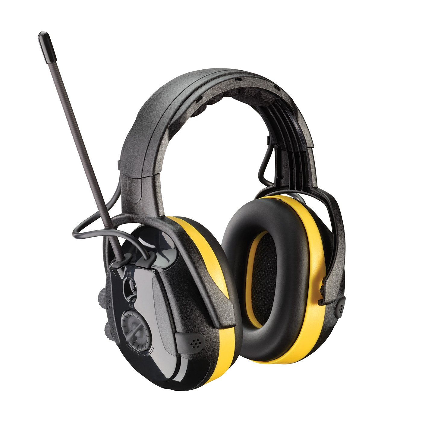 React 264-46002 NRR 24 Electronic Ear Muff with Headband Adjustment, AM/FM Radio and Active Listening, Large