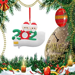 2020 Christmas Ornaments kit, Personalized Family of Ornament Christmas Tree Pendant 2020 Christmas Holiday Decorations Customized Christmas Kit