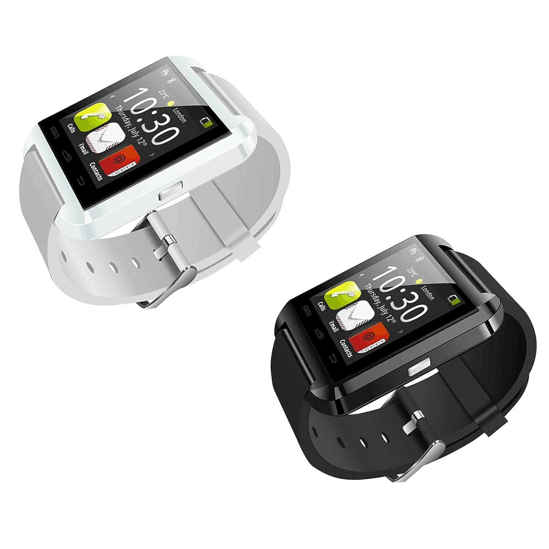 Bluetooth U8 Smartwatch Digital Wrist Watch Phone Mate w/Remote Camera Control, Passometer (White)