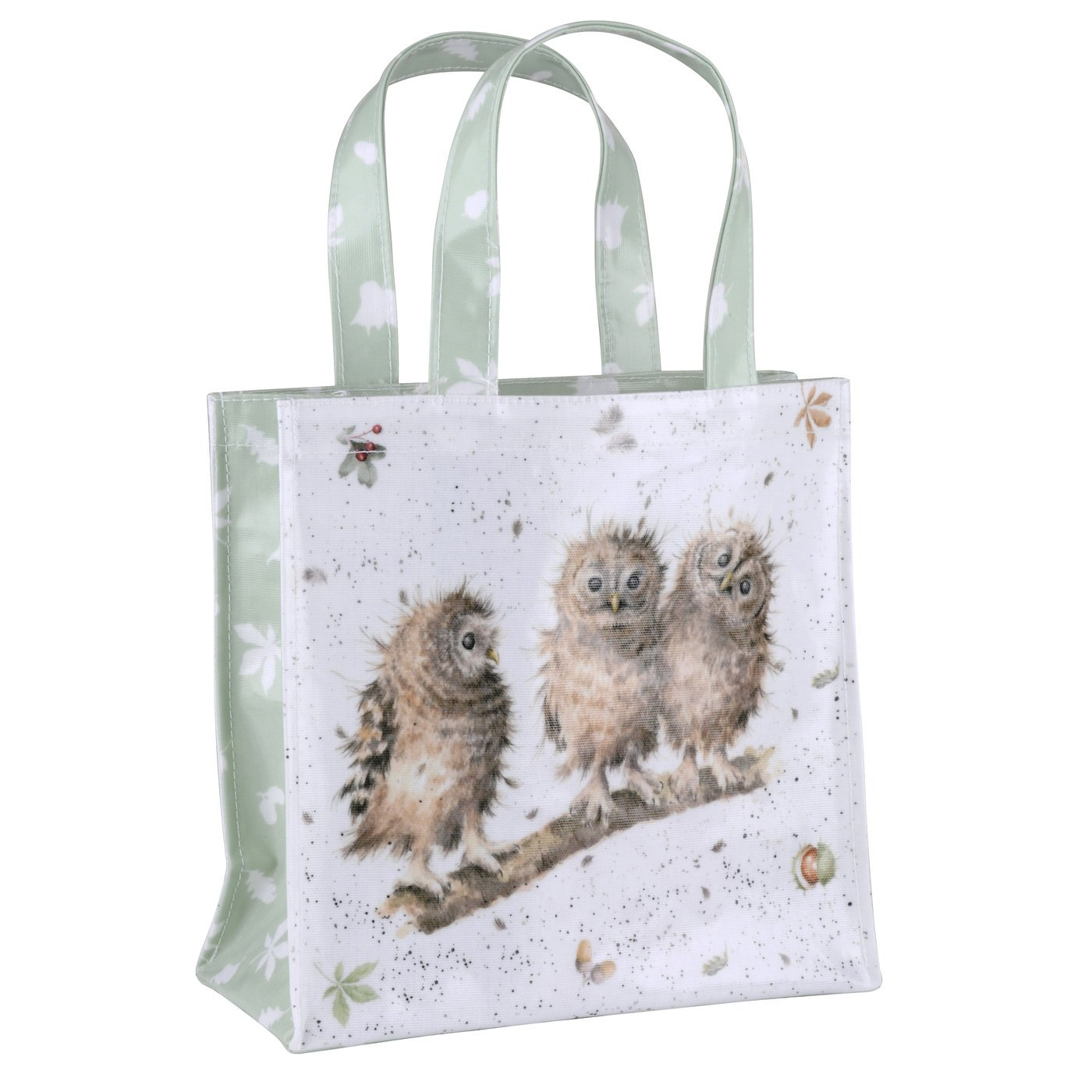 Pimpernel 25 x 25.5 x 11 cm Small You First (Owls) PVC Coated Wrendale Shopping Bag, Multi-Colour Portmeirion X0015348825