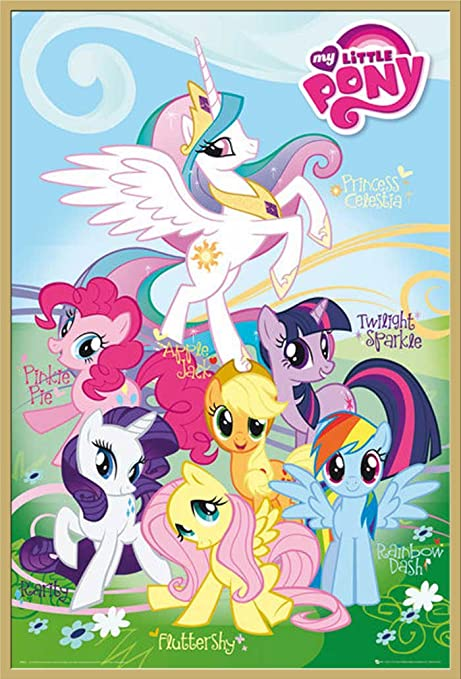 Empire Poster My Little Pony Small Pony Gold Plastic Frame Amazon