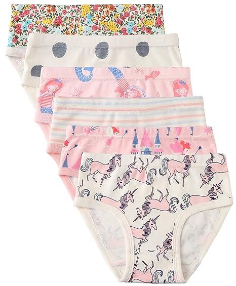 720ca96d5f Amazon.com  6 Pack Little Girl Underwear Cotton